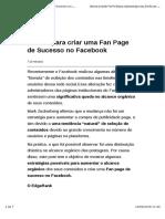 5 Dicas Para Criar Uma Fan Page de Sucesso No Facebook