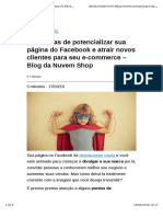 4 Maneiras de Potencializar Sua Página Do Facebook e Atrair Novos Clientes Para Seu E-commerce – Blog Da Nuvem Shop