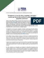 Denuncia de la la Federación Económica de la Provincia de Buenos Aires