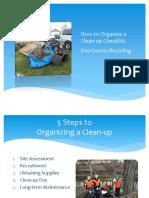 CleanUp Checklist