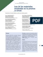 Características de Los Materiales Cerámicos Empleados en La Práctica Odontológica Actual.