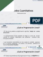 5. Programación Lineal