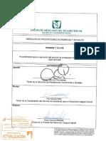 3220-003-028 Procedimiento Para La Operación Del Servicio de Pedagogía Den Guarderías IMSS