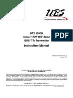 Manual DTX 1200U