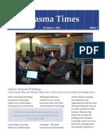 KF Usa Plasma Times Dec 1, 2016, Issue #1