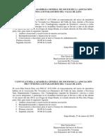 1. Convocatoria Asamblea General Aprovi Los Pakamuros Del Valle de Jaén