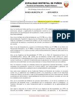 Ordenanza Rendicion Cuentas 2018 Puños