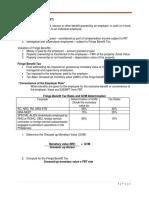GROUP 1-Fringe Benefit Tax
