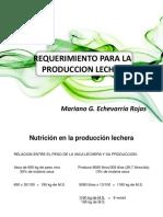 Requerimiento Para La Producción Lechera - Copia