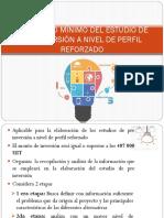 Contenido Mínimo Del Estudio de Preinversión a Nivel