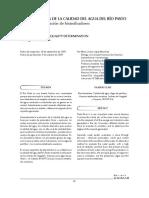 determinación de la calidad del agua del rio pasto mediante la utilización de bioindicadores
