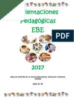 Orientaciones Pedagogicas EBE