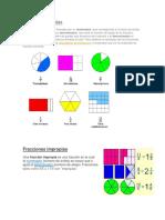 Fracciones Propias, Fracciones Inpropias, Fraccion de Una Cantidad Numerica, Comparacion de Fracciones, Numeros Mixtos