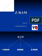 Z-RAM(zero capacitance RAM)