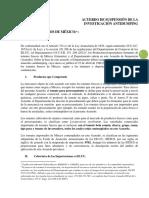 Acuerdo Dumping Espanol 2013 - 2018