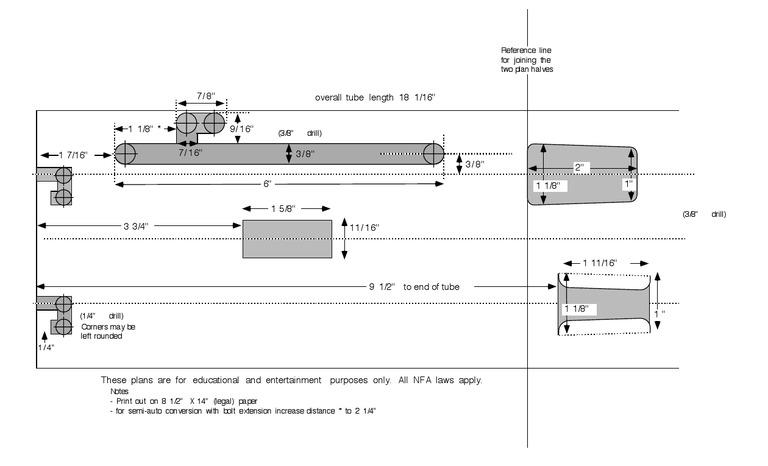 Firearms - - Blueprint - Sten Mk III Sub Machine Gun