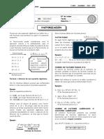 ALGEBRA 1 - Factorizacion 1