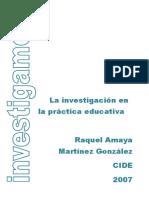 La Investigacion en La Practica Educativa Completo