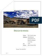 Informe Etica en La Mineria PDF