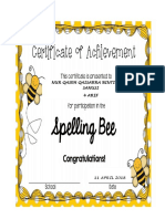 Spelling Bee Year 4