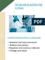 Campos de Aplicación de La Biologia
