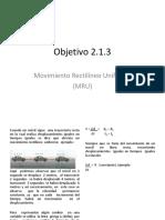 Objetivo 2_1_3 MRU
