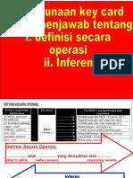 Definisi Secara Operasi Dan Inferens