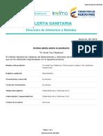Alerta Sanitaria Numero 007-2018 - Te Verde Tea 3 Ballerina
