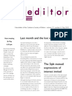 The Canberra Editor May 2010