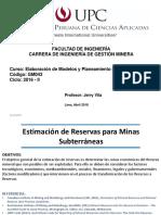 2 0 UPC Estimado de Reservas