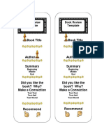 Book Review Bookmark Template