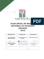 1.Plan Anual de Manejo Integral de Residuos Sólidos 2016