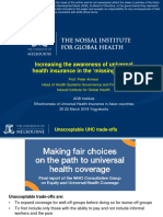 Increasing the awareness of universal health insurance in the 'missing middle'