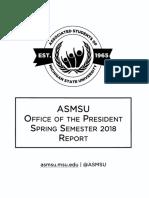 ASMSU 2018 Spring Report