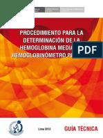 PROCEDIMIENTO PARA LA DETERMINACIÓN DE LA HEMOGLOBINA MEDIANTE HEMOGLOBINÓMETRO PORTÁTIL.pdf