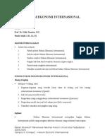 CIC Hukum Ekonomi Internasional (Sari Kuliah)