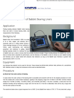 Ultrasonic Inspection of Babbitt Bearing Liners