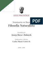 Seminario Filosofía Naturalista - Liceo Psicologico - Josep Roca i Balasch.pdf