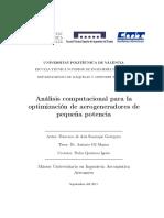 Análisis Computacional Para La Optimización de Aerogeneradores