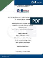 Plan Estrategico de La Industria de La Panela en El Departamento de Piura