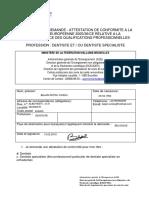 APSS - Dentiste - Formulaire Demande Attestation Conformite (Ressource 12865) (1)
