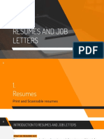 resumes and job letters  3