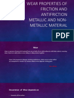 Wear Properties of Friction and Antifriction Metallic and Non-metallic Material
