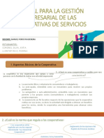 MANUAL PARA LA GESTIÓN EMPRESARIAL DE LAS COOPERATIVAS DE SERVICIOS