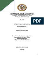Sílabo Estructuras Metálicas 2018