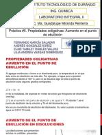Practica No.5 Propiedades Coligativas ( Aumento Ebullescopico)