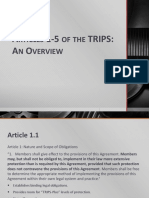 Articles 1-5 of the TRIPS