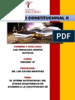 Derecho Constitucional Ensayo