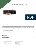 Impresora Epson EcoTank L220 _ Inyección de Tinta _ Impresoras _ Para El Hogar _ Epson México