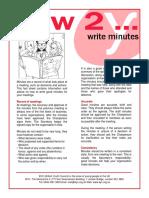 How2 Write Minutes